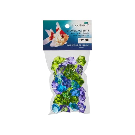 Imagitarium Chrome Blue Jewel Aquarium Gravel Accent Mix