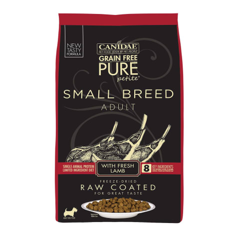 CANIDAE PURE Grain Free Small Breed Raw Coated Formula with Lamb Dry Dog Food