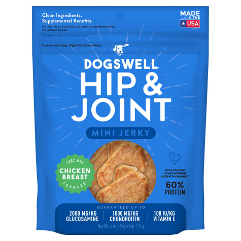 Dogswell Hip & Joint Jerky Minis Grain-Free Chicken Breast for Dogs
