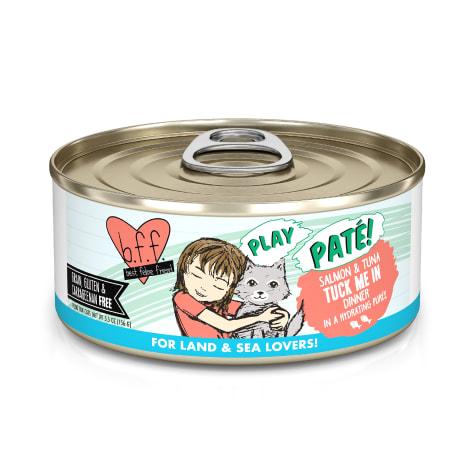 B.F.F. P.L.A.Y. Tuck Me In Salmon & Tuna Dinner in a Hydrating Puree Wet Cat Food