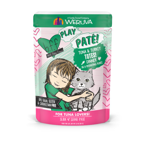B.F.F. P.L.A.Y. Totes! Tuna & Turkey Dinner in a Hydrating Puree Wet Cat Food