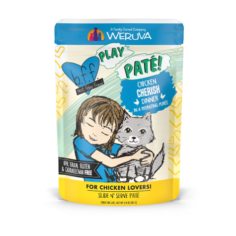 B.F.F. P.L.A.Y. Cherish Chicken Dinner in a Hydrating Puree Wet Cat Food