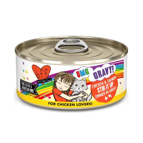 B.F.F. OMG Stir it Up Chicken & Salmon Dinner in Gravy Wet Cat Food