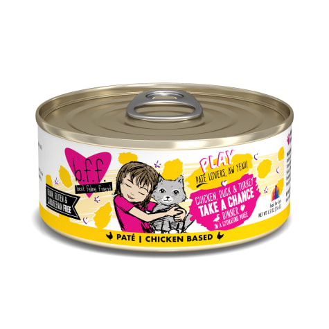B.F.F. P.L.A.Y. Take a Chance Chicken, Duck & Turkey Dinner in a Hydrating Puree Wet Cat Food