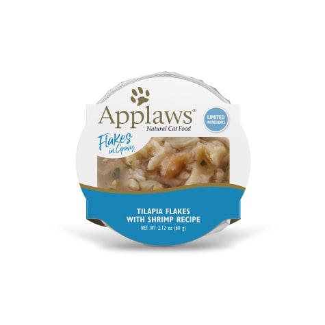 Applaws Grilled Tilapia Flakes with Shrimp in Gravy Peel & Serve Pot Grain Free Wet Cat Food