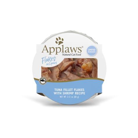 Applaws Tuna Flakes with Shrimp in Gravy Peel & Serve Pot Grain Free Wet Cat Food