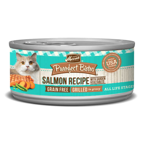 Merrick Purrfect Bistro Grilled Salmon & Vegetables Recipe Wet Cat Food