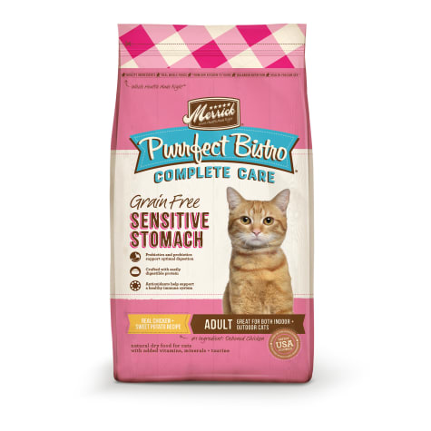 Merrick Purrfect Bistro Complete Care Sensitive Stomach Recipe Dry Cat Food