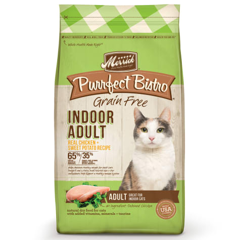Merrick Purrfect Bistro Indoor Adult Chicken + Sweet Potato Recipe Dry Cat Food