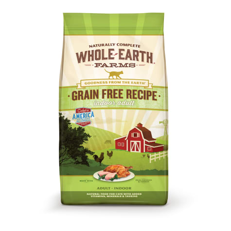 Whole Earth Farms Grain Free Indoor Adult Recipe Cat Dry Food