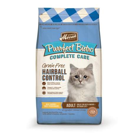 Merrick Purrfect Bistro Complete Care Grain Free Hairball Control Recipe Dry Cat Food