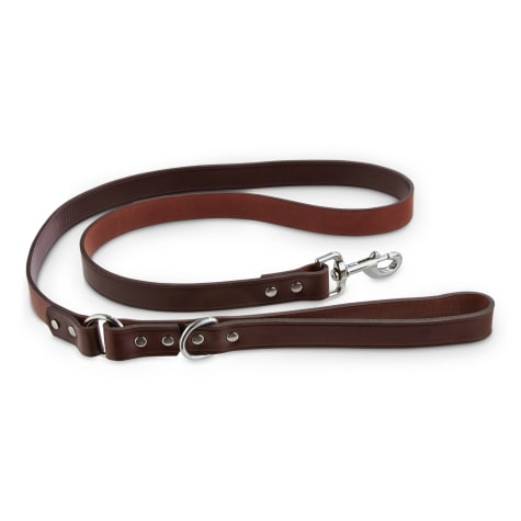 Bond & Co. Mahogany Leather Leash