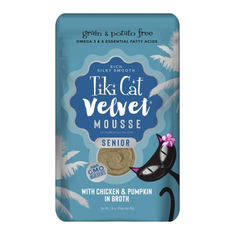 Tiki Cat Velvet Mousse Senior Chicken with Pumpkin Wet Cat Food