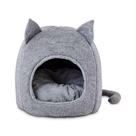 Harmony Fellow Feline Hooded Igloo Cat Bed