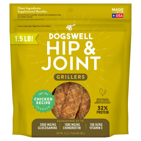Dogswell Hip & Joint Grillers Grain-Free Chicken Recipe for Dogs