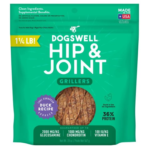 Dogswell Hip & Joint Grillers Grain-Free Duck Recipe for Dogs