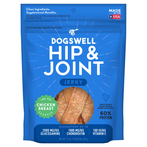Dogswell Hip & Joint Jerky Grain-Free Chicken Breast for Dogs