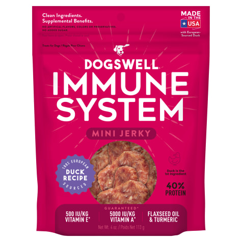 Dogswell Immunity & Defense Jerky Minis Grain-Free Duck Recipe for Dogs