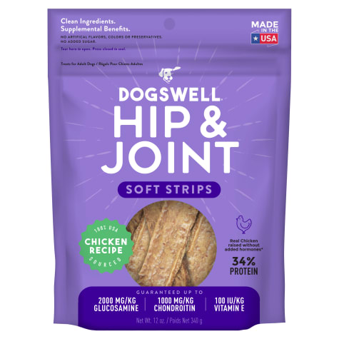 Dogswell Hip & Joint Soft Strips Grain-Free Chicken for Dogs