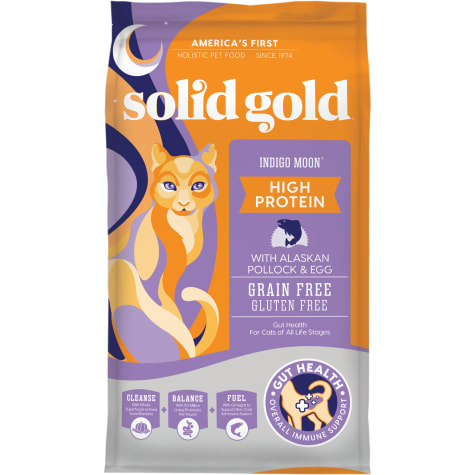 Solid Gold Indigo Moon High Protein Dry Cat Food with Alaskan Pollock and Egg