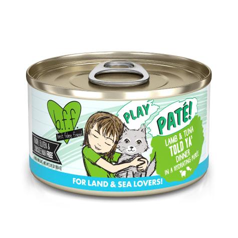 B.F.F. P.L.A.Y. Told Ya' Lamb & Tuna Dinner in a Hydrating Puree Wet Cat Food