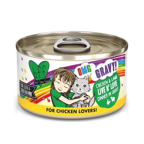 B.F.F. OMG Live N' Love Chicken & Lamb Dinner in Gravy Wet Cat Food