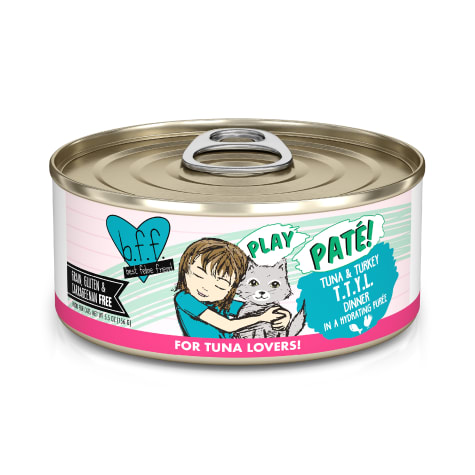 B.F.F. P.L.A.Y. T.T.Y.L. Tuna & Turkey Dinner in a Hydrating Puree Wet Cat Food