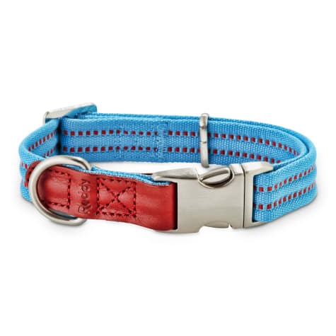 Reddy Cerulean Blue Webbed Dog Collar
