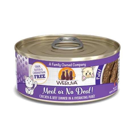 Weruva Pate Meal or No Deal! Chicken & Beef Dinner in a Hydrating Puree Wet Cat Food