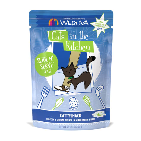 Cats in the Kitchen Pate Cattyshack Chicken & Shrimp Dinner in a Hydrating Puree Wet Cat Food