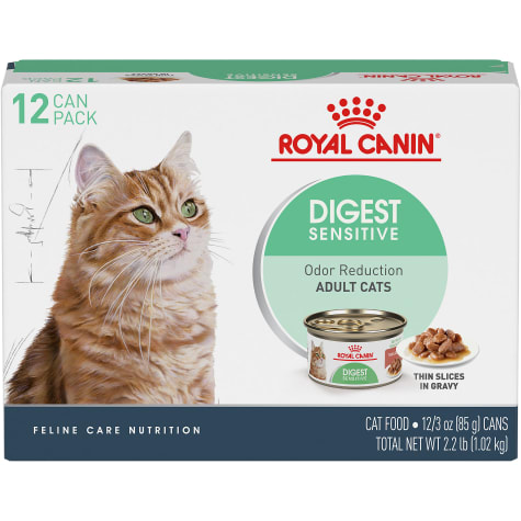 Royal Canin Feline Health Nutrition Digest Sensitive Thin Slices In Gravy Wet Cat Food Multipack
