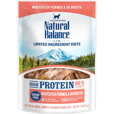 Natural Balance L.I.D. High Protein Whitefish Formula in Broth Wet Cat Food
