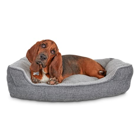 Harmony Cozy Cottage Gray Nester Dog Bed