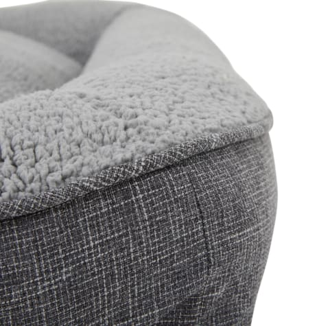 Harmony Cozy Cottage Gray Lounger Dog Bed