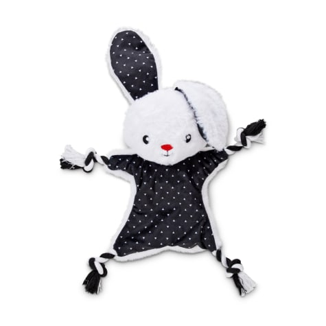 Bond & Co. Black and White Super-Star Bunny Rope Dog Toy
