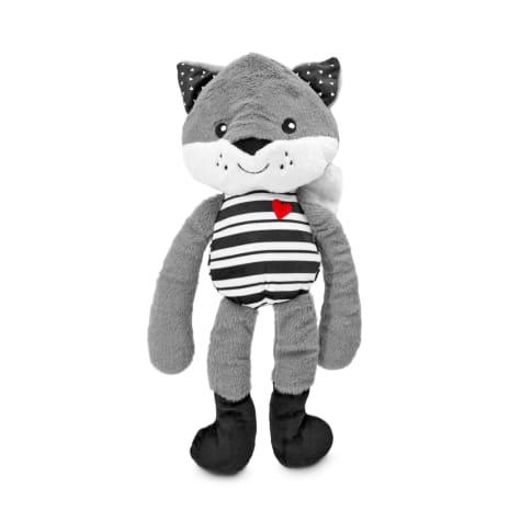 Bond & Co. Fox in Black Socks Plush Dog Toy
