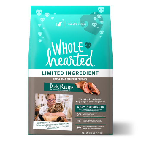 WholeHearted Grain Free Limited Ingredient Duck Recipe Dry Cat Food for All Life Stages