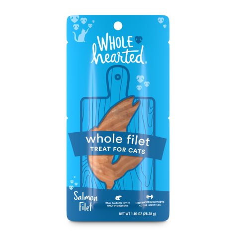 WholeHearted Protein-Rich Salmon Filet Cat Treat