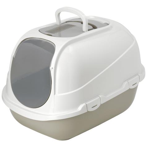 Moderna Mega Comfy Enclosed Grey Litter Box for Cats