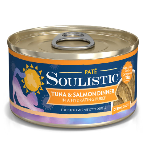 Soulistic Pate Tuna & Salmon Dinner in a Hydrating Puree Wet Cat Food