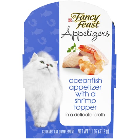 Fancy Feast Appetizers Oceanfish With a Shrimp Topper in Broth Wet Cat Food