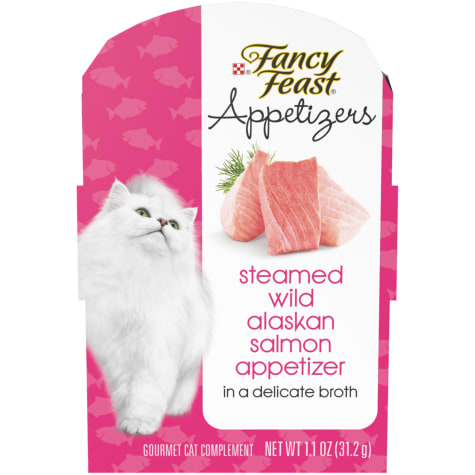 Fancy Feast Appetizers Steamed Wild Alaskan Salmon in Delicate Broth Wet Cat Food