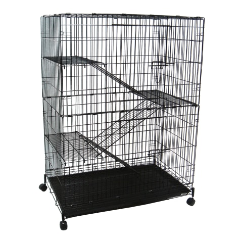 YML 4 Level Black Small Animal Cage