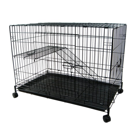YML 2 Level Black Small Animal Cage