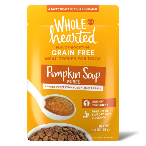 WholeHearted Pumpkin Soup Puree Dog Meal Topper