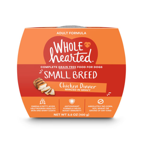 WholeHearted Grain Free Small Breed Chicken Dinner Adult Wet Dog Food