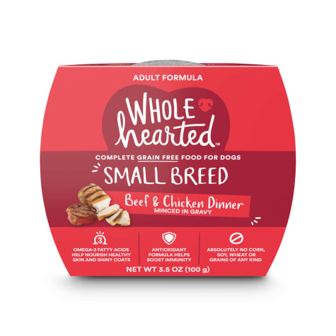 WholeHearted Grain Free Small Breed Beef and Chicken Dinner Adult Wet Dog Food