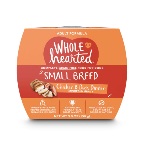 WholeHearted Grain Free Small Breed Chicken and Duck Dinner Adult Wet Dog Food
