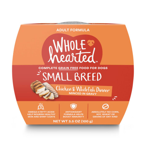 WholeHearted Grain Free Small Breed Chicken and Whitefish Dinner Adult Wet Dog Food