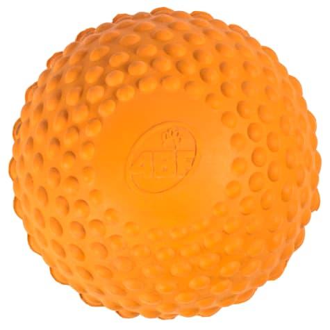4BF Bumpy Ball Orange Dog Toy